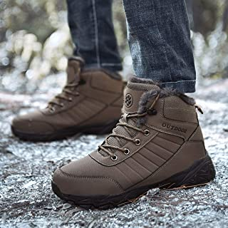 ✪COOLGIRLS✪~Shoes Men's Winter Solid Flat High Top Lace-Up Outdoor Sport Shoes Keep Warm Mountaineering Boots Running Sneakers