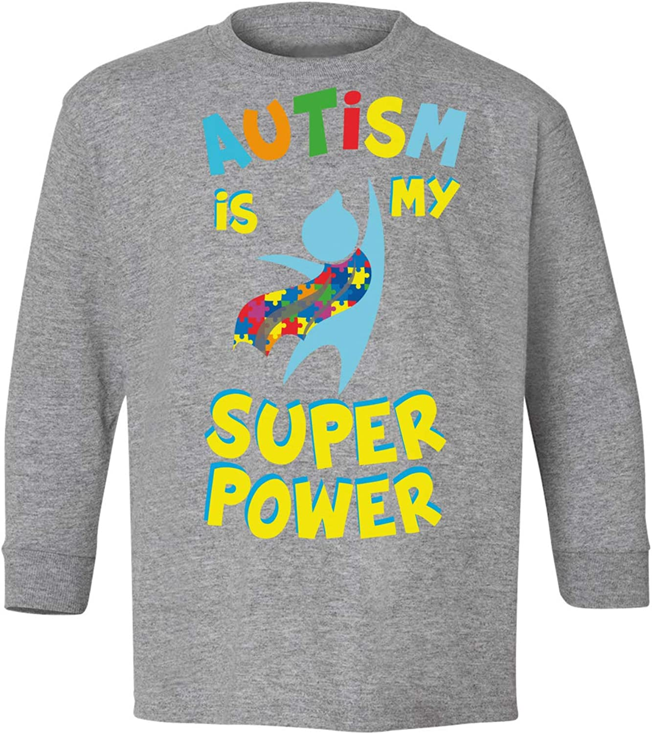 Awkward Styles Autism Youth Long Sleeve T-Shirt Autism is My Super Power Crewneck Tee for Kids