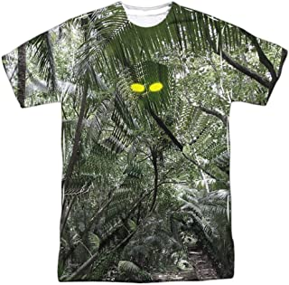 Predator Yellow Eyes (Front Back Print) S S Adult Poly Crew White