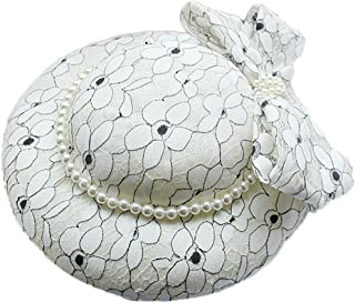 ZOO 花嫁の手作り帽子ピュアカラーウェディングヘアアクセサリー。
