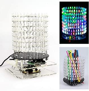 DDIY Light Column Soldering Project Kit Cylindrical Audio Spectrum DIY Electronic Practice Kit