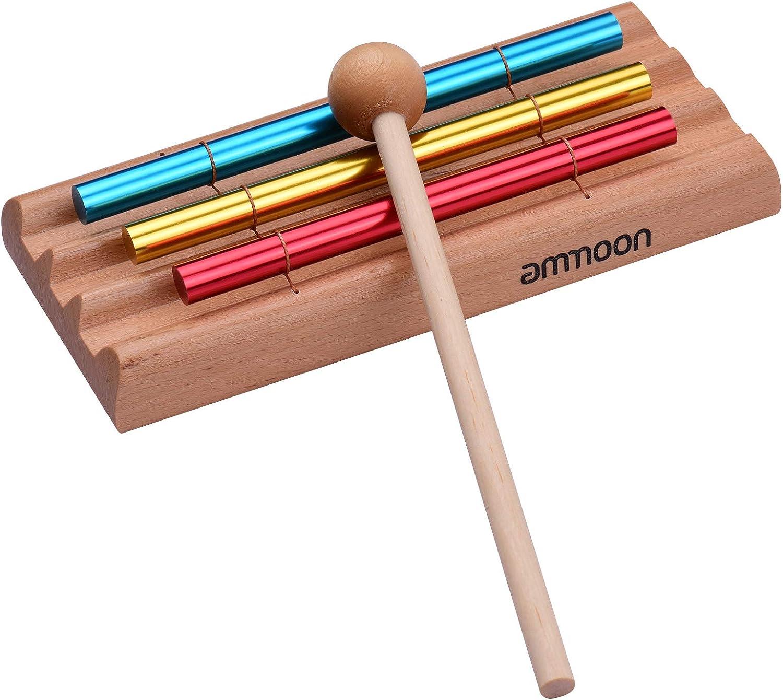 Jouet /éducatif musical /à percussion avec maillet ammoon Carillon de m/éditation 1 tonalit/é pour enfants