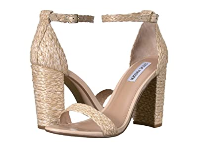 Steve Madden Carrson Heeled Sandal (Natural Raffia) High Heels
