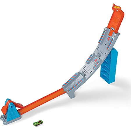 Hot Wheels - Hill Climb Champion Pista y rampa de coches de juguete para niños +4 años (Mattel GBF83) , color/modelo surtido