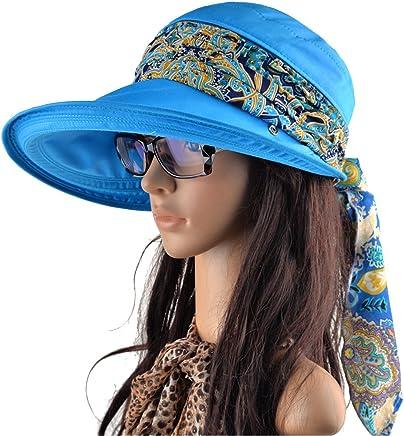 KISSBAOBEI Wide Brim Visor Protect Neck Women UV Visor Sun Hat 3122ba5a70dd