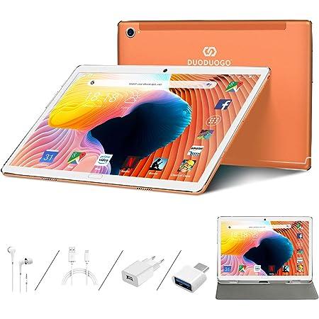 Tablet 10.8 Pulgadas Android 10.0, 5G WiFi 10-Core 2.3GHz Ultrar-Rápido Tablets, 16.0MP + 8.0MP, 4GB RAM, 64GB ROM / 512GB Escalable, 8000mAh, GPS, ...