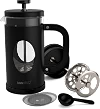 bonVIVO GAZETARO I French Press Coffee Maker, Cold Brew Coffee Makers Machine Made of Stainless Steel And Heat Resistant B...