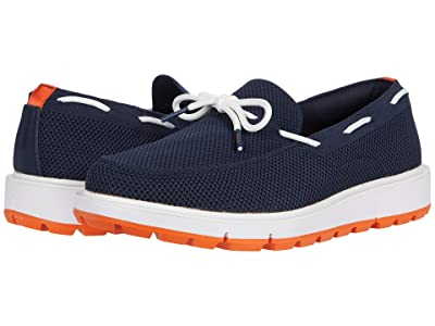 SWIMS Motion Camp Moc Knit (Navy/White/Orange) Men