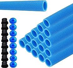 LZQ 16x stangbescherming voor trampoline netpalen schuimstofrol blauwe buizen bekleding 92 cm voor 8 stangen veiligheidsne...