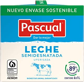 Leche Pascual Clasica Leche Semidesnatada - Paquete de 6 x 1