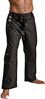 Ronin Brand Heavyweight Karate Pants – Black or White – 100% Cotton 12oz Weight - Waist with Traditional Drawstring