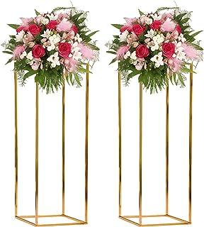 DYJD Mariage Fleurs Cadre Métal Vase Colonne Stand Geometric Centerpiece Vase pour la décoration de Mariage à la Maison,d'...