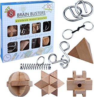 esCubo Amazon Y Puzzles Metal Rompecabezas Pn80wOk