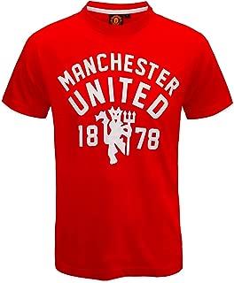 Manchester United Football Club Official Soccer Gift Mens Devil T-Shirt