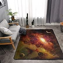 NiYoung Bedroom Livingroom Sitting-Room King Size Kitchen Rugs Home Decor - Kitten Cat Galaxy Nebula Space Star Universe Zen Doormat Floor Mat Fast Dry Toilet Bath Rug Exercise Mat Throw Rugs Runner