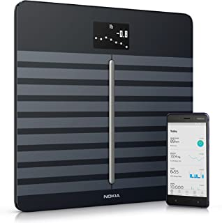 Nokia health Body Cardio - Báscula wifi de salud cardíaca y composición corporal, Negro
