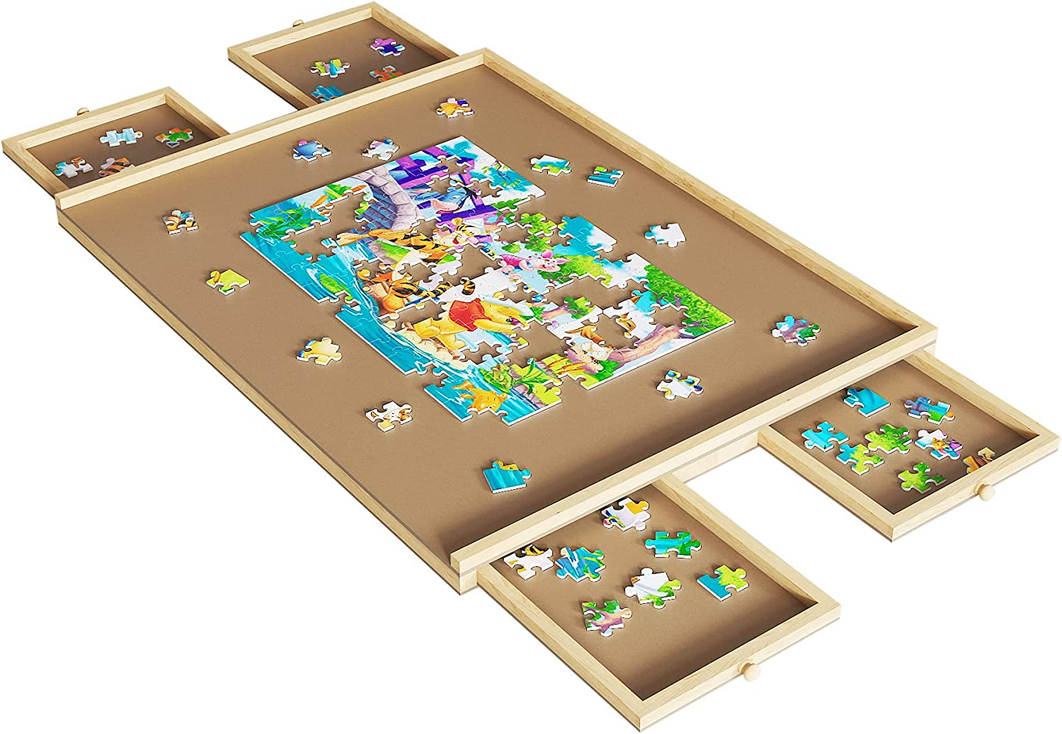 Upgraded Wooden Jacksonville Mall Puzzle Table 29 supreme x Inch Board Portable 21