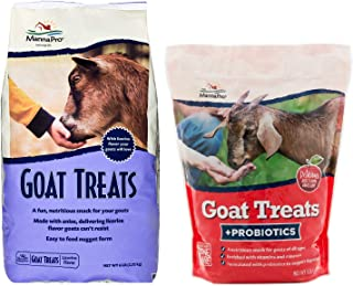 Manna Pro Goat Treat Variety Pack, Includes 1 Apple Probiotic, 5 Pounds and 1 Licorice, 6 Pounds (11 Pounds Total)