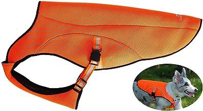 smartelf Dog Cooling Vest,Dog Cooling Coat Evaporative Swamp Cooler Jacket Safety Reflective Vest for Large Dogs Walking Outdoor Hunting Training Camping Orange