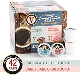 Donut Shop Variety Pack with Chocolate Glazed & Candy Cane Crumb for K-Cup Keurig 2.0 Brewers, 42 Count, Victor Allen's Coffee Single Serve Coffee Pods
