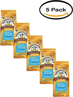 PACK OF 5 - Newman's Own Organics Newman's Special Blend Medium Roast Ground Coffee, 10 oz