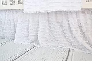 White Crib Skirt for Baby Girl Nursery Bedding Dust Ruffle