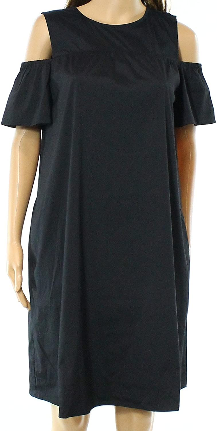 Alfani Womens Shift OffTheShoulder Casual Dress Black 14