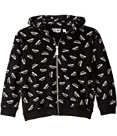 Moschino Kids - Hooded Sweatshirt w/ All Over Logo Print (Little Kids/Big Kids)