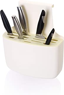 Knife Storage Organizer and Holder - Kitchen Knives Block Organizer with Over the Door Mounted Keeps Your Knife Collection...