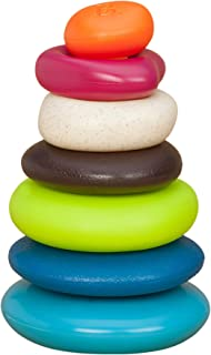 B. Toys- Skipping Stones- Textured Stacking Rings- Classic Ring Stacker for Babies- Non-Toxic BPA-- Early Development Toys