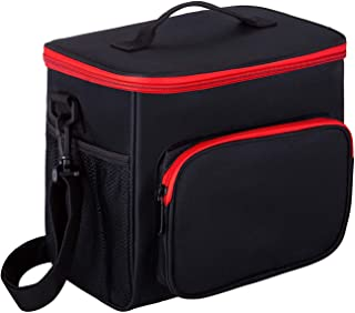 Insulated Lunch Bags for Women and Men,12 Can Large Lunch Bag/Lunch boxes/Cooler Bag, 10L Lunch Bag Thermal Bento Bag/lunch box for Picnic/Beach/Camping, BBQ (BLACK, 8.85)