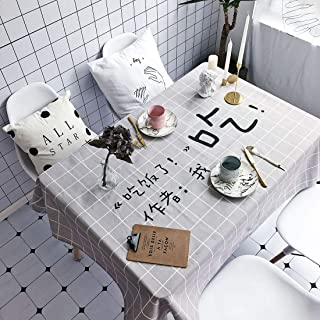 Simple Modern kitchen/home tools Have Meal Pattern Waterproof Anti-scalding Rectangle Cotton and Linen Table Cloth,Simple ...
