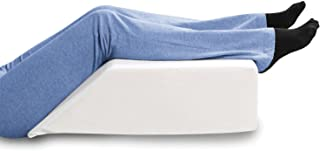 SUPPORT PLUS Elevated Leg Wedge Support Pillow -Relieves Back/Sciatica Pain, Surgical or Injury Recovery, Improves Circulation, Helps Reduce Leg/Ankle Swelling -Premium Memory Foam 17