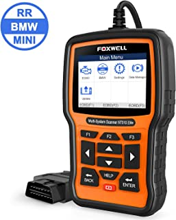 FOXWELL NT510 Elite Reset Tool for BMW Full System Car Diagnostic Scan Tool OBD2 Scanner Automotive Code Reader with Batte...