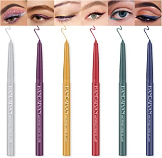 Ownest 6 Colors Eyeliner Pen,Colorful Eyeliner Gel Set Matte Eyeliner Pencil for Women Eye Liner Profession...
