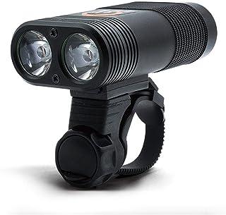 Greneric - Linterna LED para bicicleta IPX6 resistente al agua, recargable por USB, 10 horas para hombres, mujeres, niños,...