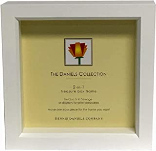 Bright-White stain 5x5 shadow box for your print or collectibles by Dennis Daniels® - 5x5