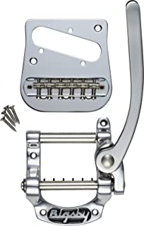 Bigsby B5 Vibrato Tailpiece, Telecaster and Jazzmaster Style Solid Body Flat Top, Chrome