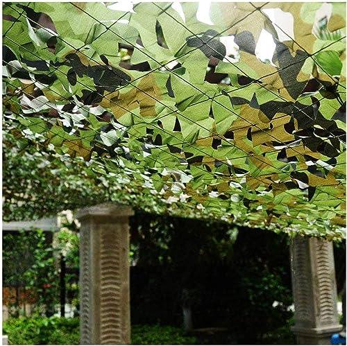 Filet De Prougeection Solaire pour Jardin, Militaire Filet De Camouflage 4x4m Filet D'ombrage 3x5m Auvents Jungle Vert Renforcer Filet De Camouflage 3x3m pour Tentes Résistantes Au Feu Aux Flammes