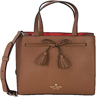 Kate Spade Hayes Leather Small Convertible Satchel Bag, Warm Gingerbread