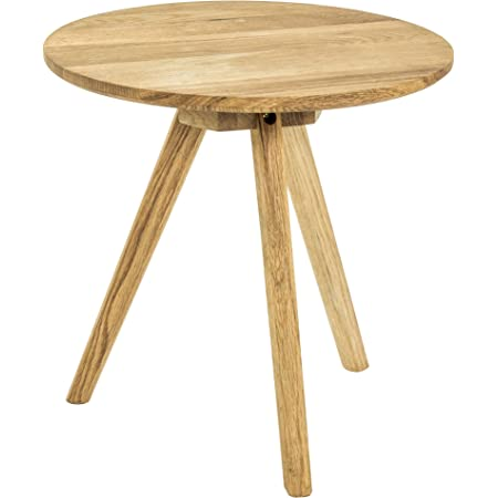 Haku Moebel Table d'appoint, Bois Massif chêne, Ø 40 x 40 cm