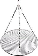 Grillrost Durchmesser 100 cm mit Kette Edelstahl 4 mm Grillstabdicke Stababstand 10 mm für Schwenkgrill BBQ Dreibein
