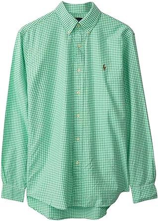 Polo Ralph Lauren Camisa Vichy Verde para Hombre