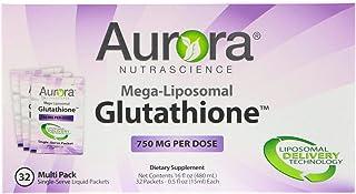 Aurora Nutrascience, Mega-Liposomal Glutathione, 750 mg, 32 Single-Serve Liquid Packets, 0.5 fl oz (15 ml) Each