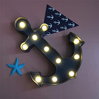 Anchor Marquee Light LED Lamp Light Birthday Party Decoration for Kids' Room Decorations, Party, Gift