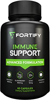 Immune System Booster Antioxidant Supplement, Elderberry Capsule, with Vitamin C, Vitamin D, Zinc, Supports...