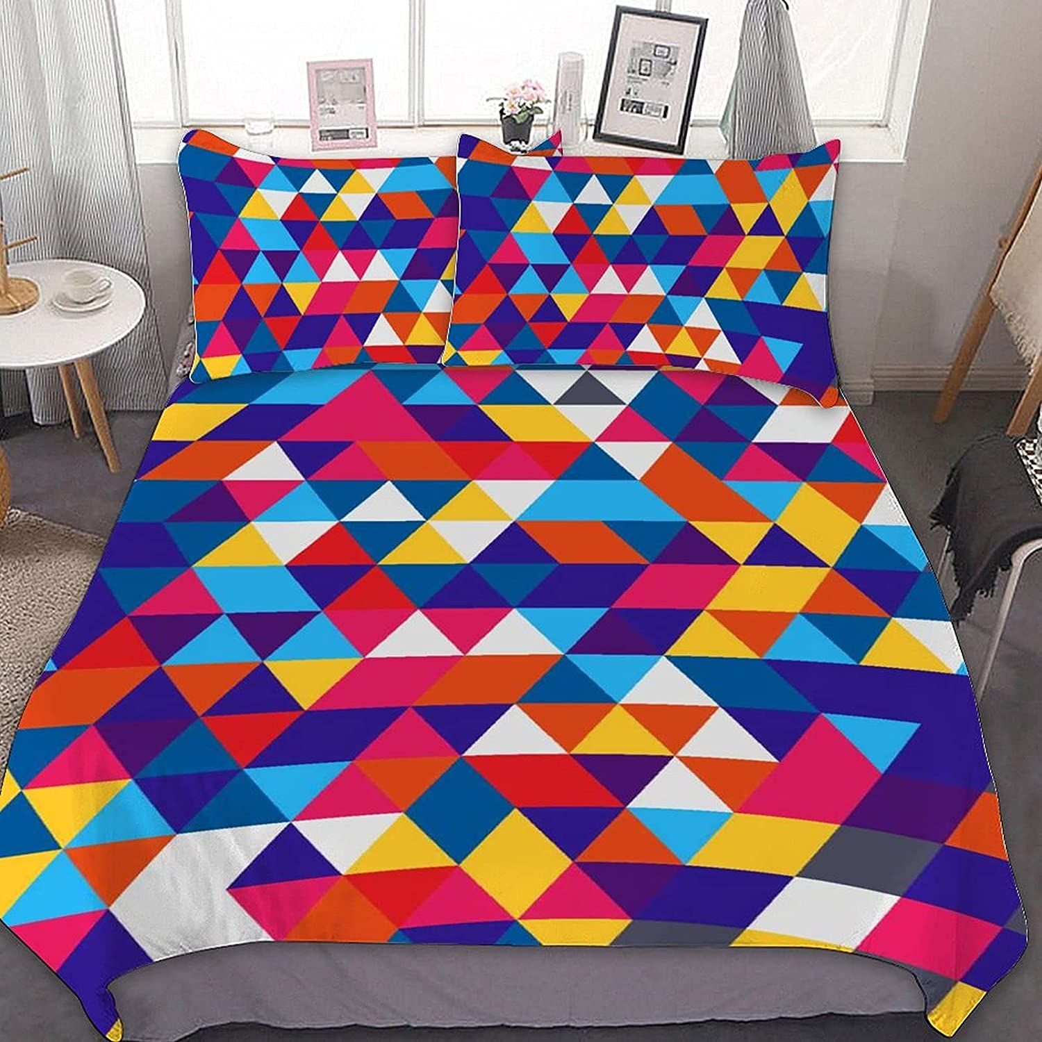 Colorado Springs Mall Modern Geometric Bedding Set 3 Soft Free shipping anywhere in the nation Ultra Comforter Piece Co