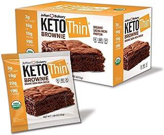 Sponsored Ad - Julian Bakery Keto Thin Brownie | USDA Organic | Vegan | Gluten-Free | 3 Net Carbs | 12 Brownies |