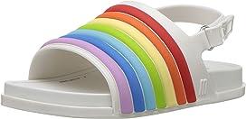 Mini Beach Slide Sandal Rainbow (Toddler/Little Kid)