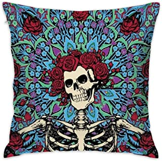 CCGGJPYI Grateful-Dead Decorative Throw Pillow Case Cushion Cover 18